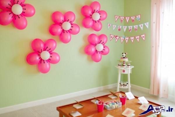 تزیین اتاق تولد با بادکنک