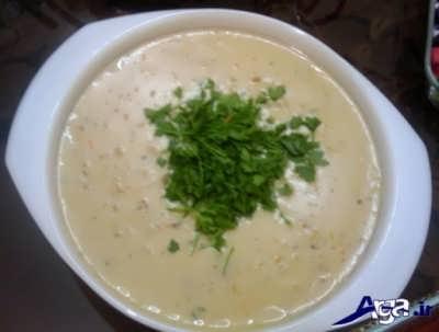 روش پخت سوپ جو با شیر