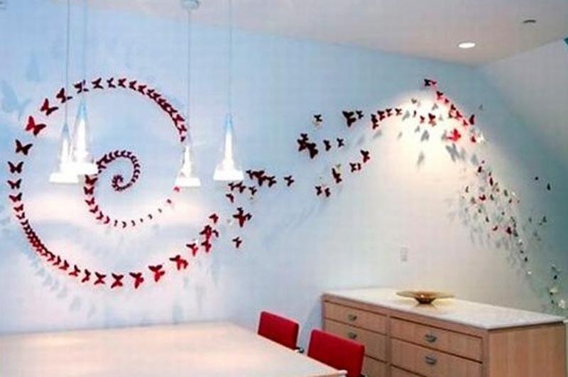 تزیین اتاق با ساتن تزیین دیوار اتاق خواب با روش های ارزان و ساده