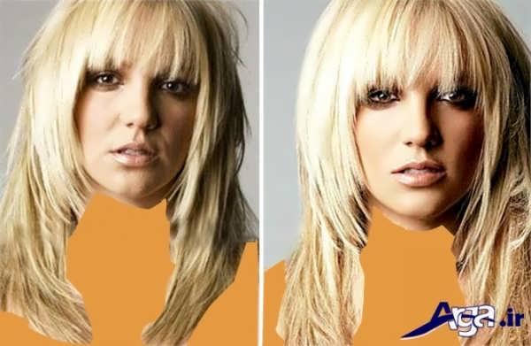 مدل مو چتری و آرایش صورت