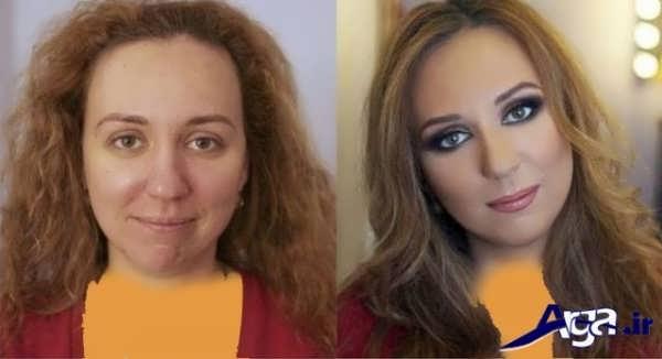 مدل آرایش لایت به همراه عکس قبل و بعد آرایش
