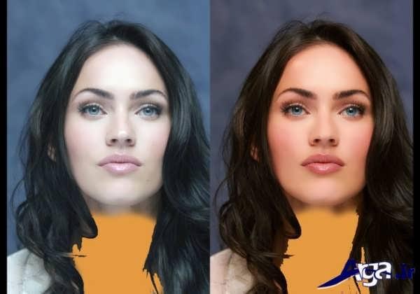 میکاپ صورت به همراه عکس قبل و بعد از آرایش صورت