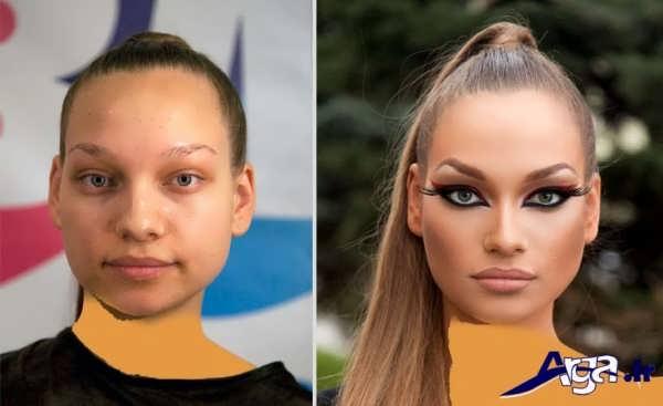 عکش های قبل و بعد از آرایش