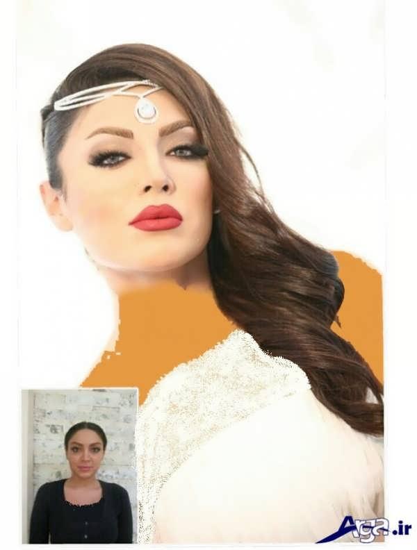 مدل آرایش غروس یه همراه عکس قبل و بعد از آرایش
