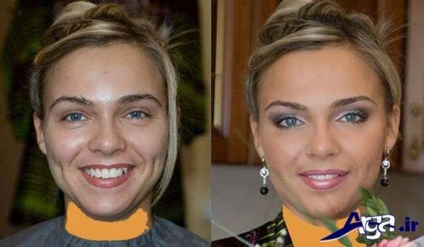 عکس قبل و بعد از میکاپ