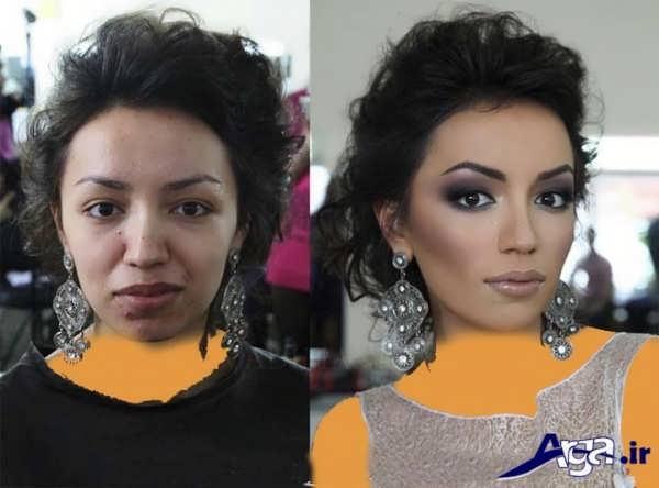 عکی های متفاوت و باور نکردنی قبل و بعد از آرایش