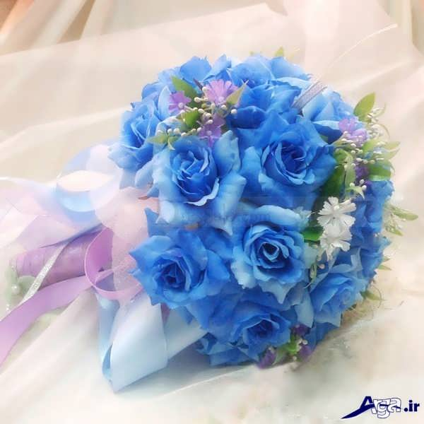 دسته گل آبی