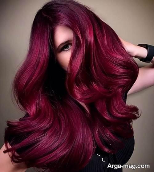 رنگ مو شرابی زیبا