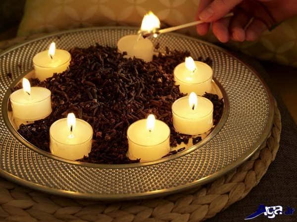 تزیینات شمع ساده