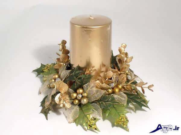 شمع تزیین شده زیبا