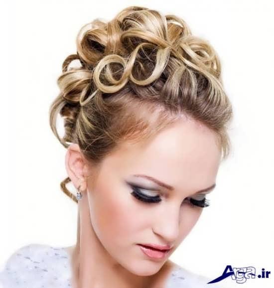شینیون زیبا و جدید موهای کوتاه با اضافه کردن موی مصنوعی
