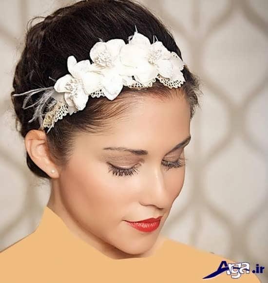 شینیون ساده و شیک موی کوتاه عروس