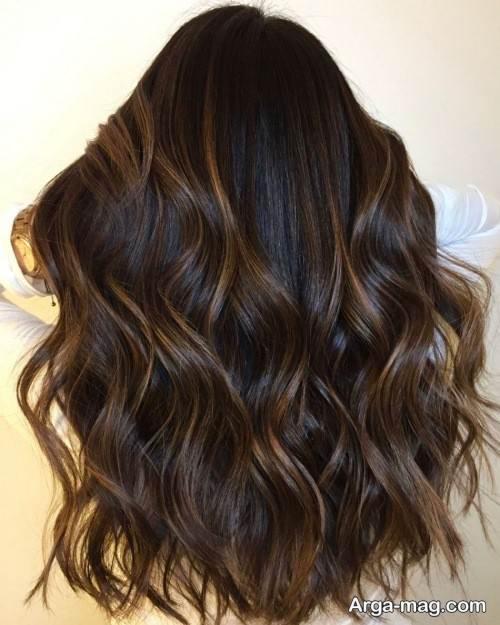 رنگ مو جذاب شکلاتی