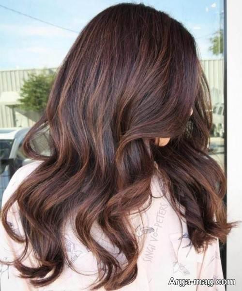 رنگ مو تیره شکلاتی