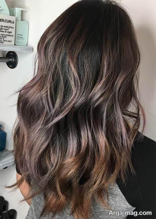رنگ موی شکلاتی خاص