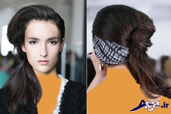 بستن مو ها با روشی متفاوت و ایده آل