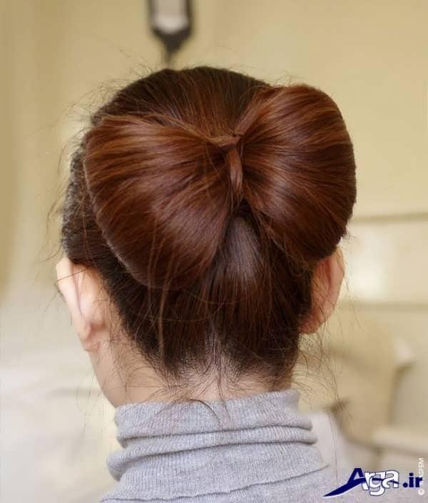 مدل بستن مو های بلند به شکل پاپیونی