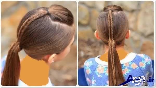 مدل موی بسته شده برای مکان های رزشی