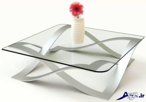 میز جلو مبلی سفید