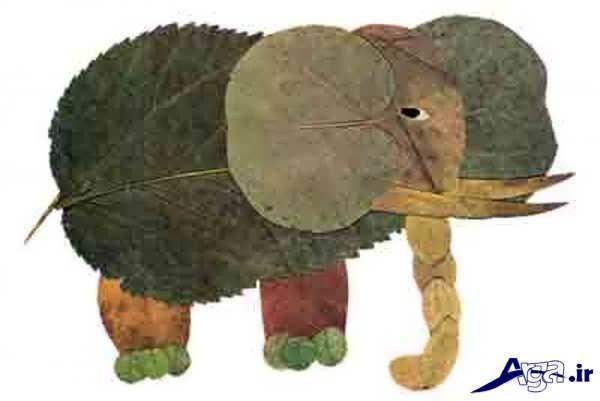 کاردستی کودکانه با برگ درخت