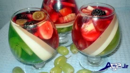 مدل تزیین ژله با میوه های خوشمزه
