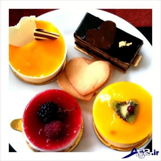مدل تزیین ژله در ابعاد کوچک با میوه