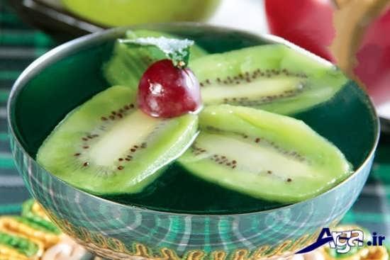 مدل های تزیین ساده و پرکار ژله با میوه