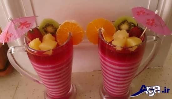 مدل های تزیین ژله با میوه