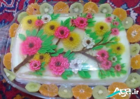 ژله تزریقی به شکل گل های رنگارنگ