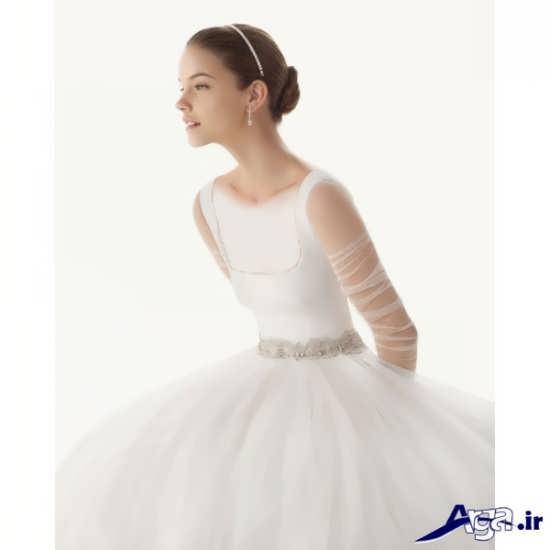 مدل بلند لباس عروس آستین دار