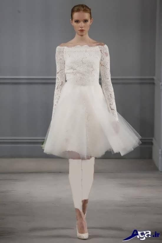 لباس عروس آستین دار کوتاه