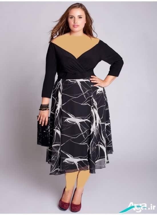 لباس مجلسی با یقه هفت