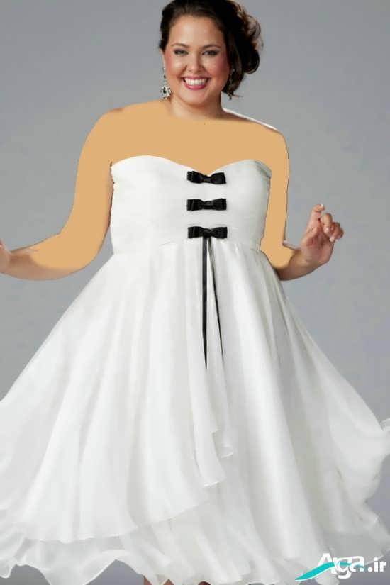 پیراهن کوتاه مجلسی سفید