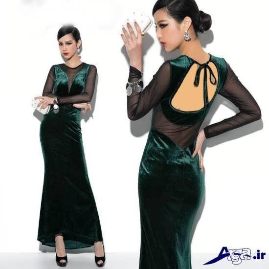 لباس مجلسی مخمل زنانه 2016