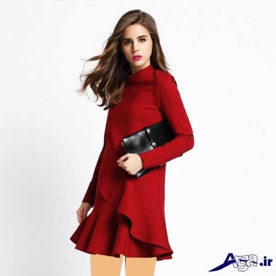 لباس مجلسی دخترانه قرمز