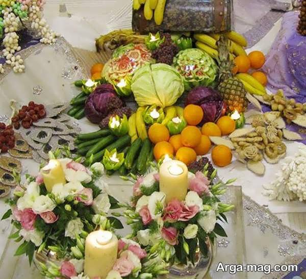 تزیین سبد میوه سفره عقد با ایده متفاوت