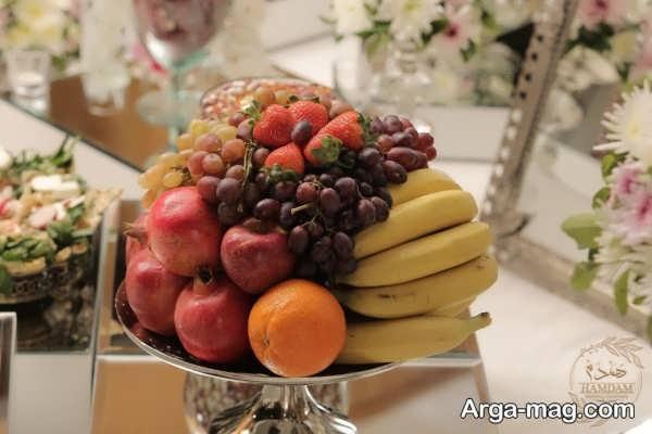 تزیین سبد میوه سفره عقد با ایده فوق العاده