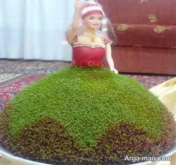 سبزه با خاکشیر و خرفه با مدل جذاب