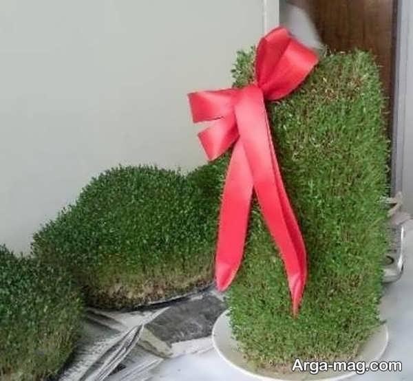 سبزه با خاکشیر با مدل استوانه ای