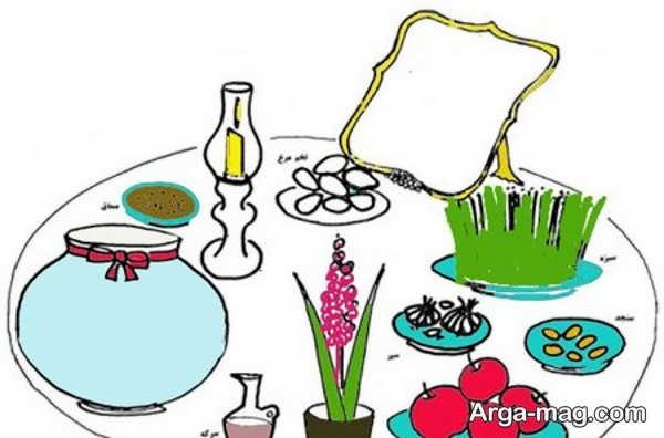 نقاشی هفت سین با رنگ آمیزی بی نظیر