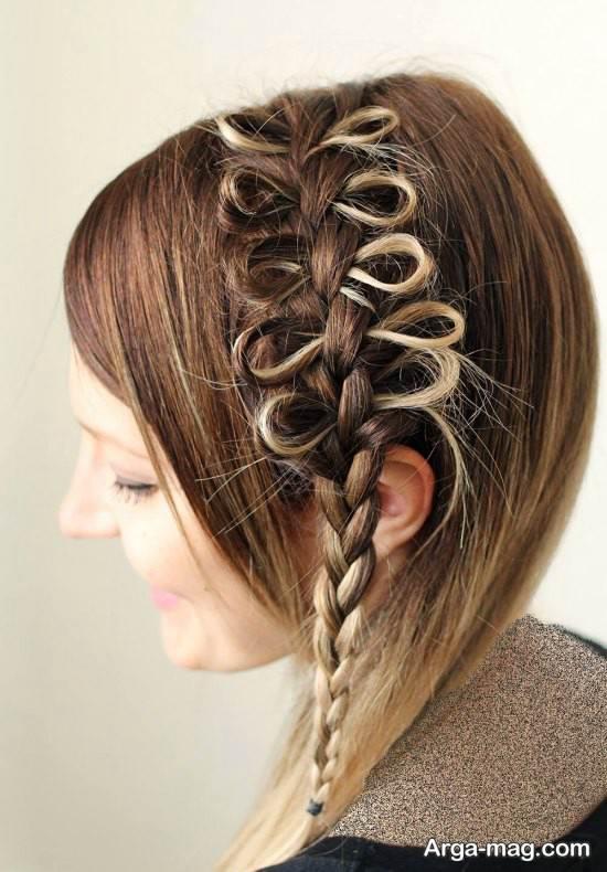 بافت موی دخترانه برای جلوی سر