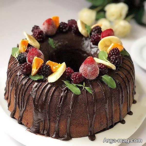 جدیدترین دیزاین کیک خانگی با میوه