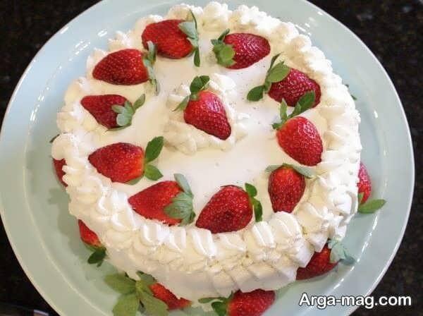 قشنگ ترین دیزاین کیک خانگی با میوه
