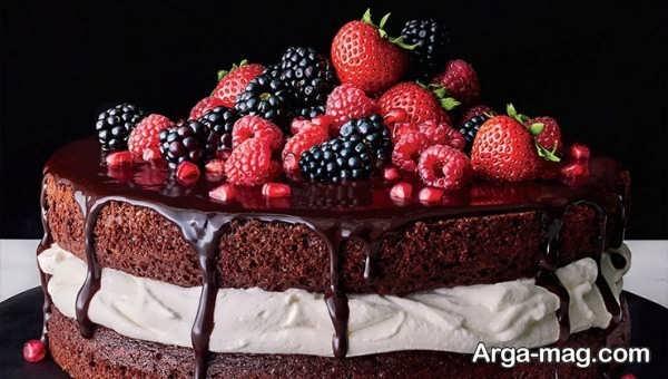 متفاوت ترین دیزاین کیک خانگی با میوه