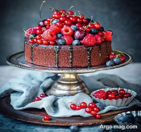 تزیینات خاص کیک خانگی با میوه