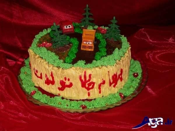 تزیین کیک با طرح مزرعه