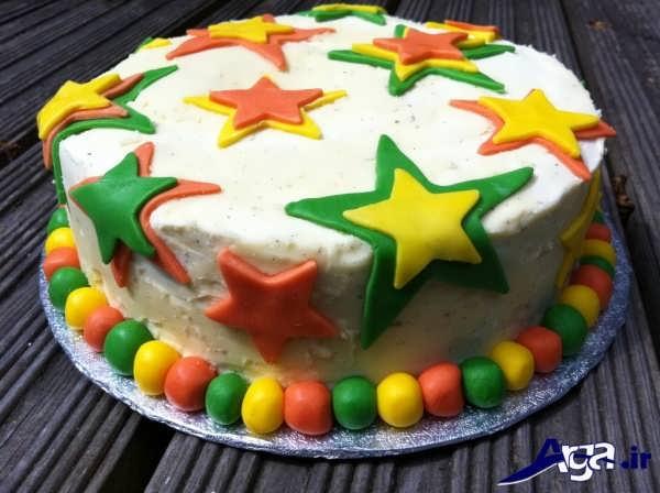 تزیین زیبای کیک با خمیر فوندانت