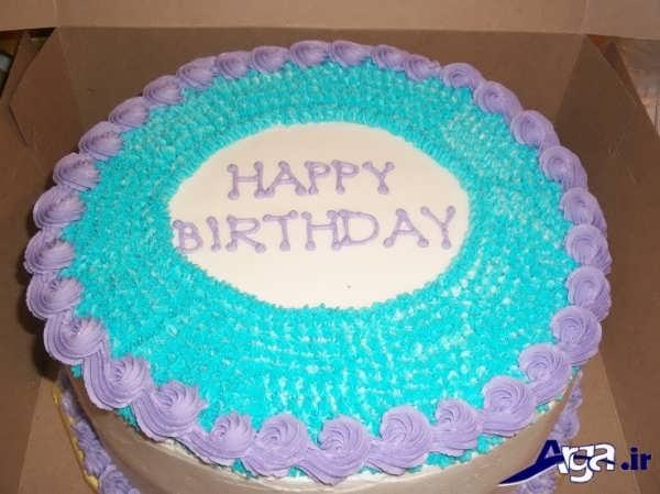 تزیین ساده کیک با دو رنگ خامه