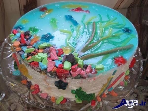 تزیین کیک خانگی برای کودکان