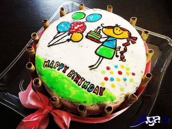 تزیین کیک خانگی با طرح های کودکانه و زیبا